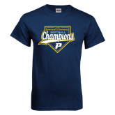 Navy T Shirt-2016 Northeast 10 Conference Champions Softball
