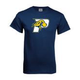Navy T Shirt-P w/T-Bone