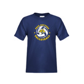Youth Navy T Shirt-Volleyball Star Design
