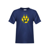 Youth Navy T Shirt-Paw