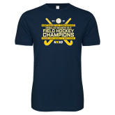 Next Level SoftStyle Navy T Shirt-2018 NE10 Field Hockey Champions