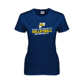 Ladies Navy T Shirt-Can You Dig It Volleyball