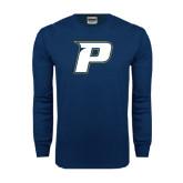 Navy Long Sleeve T Shirt-P