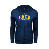 ENZA Ladies Navy Fleece Full Zip Hoodie-Arched Pace Athletics