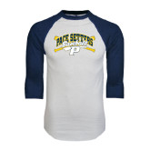 White/Navy Raglan Baseball T-Shirt-Baseball Design