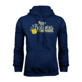 Navy Fleece Hood-Softball Design