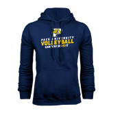 Navy Fleece Hoodie-Can You Dig It Volleyball