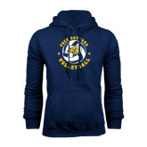 Navy Fleece Hoodie-Volleyball Star Design