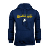 Navy Fleece Hoodie-Stacked Lacrosse Design