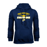 Navy Fleece Hoodie-Swimming