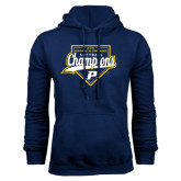 Navy Fleece Hood-2016 Northeast 10 Conference Champions Softball