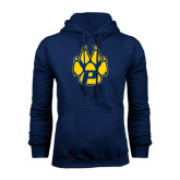 Navy Fleece Hood-Paw
