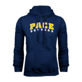 Navy Fleece Hoodie-Arched Pace Setters