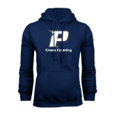 Navy Fleece Hoodie-Cross Country