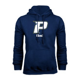 Navy Fleece Hood-Dad