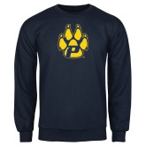 Navy Fleece Crew-Paw
