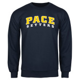 Navy Fleece Crew-Arched Pace Setters