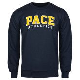 Navy Fleece Crew-Arched Pace Athletics