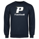 Navy Fleece Crew-Football