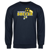 Navy Fleece Crew-Soccer Swoosh