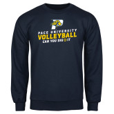 Navy Fleece Crew-Can You Dig It Volleyball