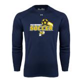 Under Armour Navy Long Sleeve Tech Tee-Soccer Swoosh