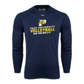 Under Armour Navy Long Sleeve Tech Tee-Can You Dig It Volleyball