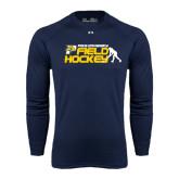 Under Armour Navy Long Sleeve Tech Tee-Field Hockey Design