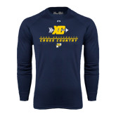 Under Armour Navy Long Sleeve Tech Tee-Cross Country