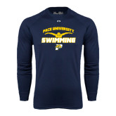 Under Armour Navy Long Sleeve Tech Tee-Swimming