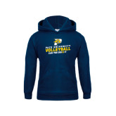 Youth Navy Fleece Hoodie-Can You Dig It Volleyball