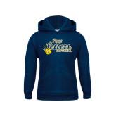 Youth Navy Fleece Hoodie-Softball Design