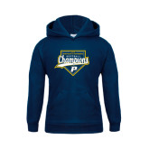 Youth Navy Fleece Hoodie-2016 Northeast 10 Conference Champions Softball
