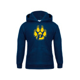 Youth Navy Fleece Hoodie-Paw
