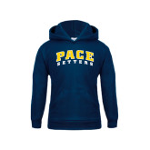 Youth Navy Fleece Hoodie-Arched Pace Setters