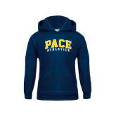 Youth Navy Fleece Hoodie-Arched Pace Athletics