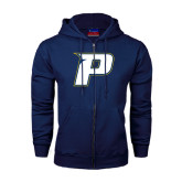 Navy Fleece Full Zip Hoodie-P