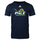 Adidas Navy Logo T Shirt-Official Logo