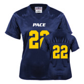 Ladies Navy Replica Football Jersey-#22