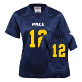 Ladies Navy Replica Football Jersey-#12
