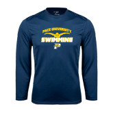 Performance Navy Longsleeve Shirt-Swimming