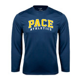 Performance Navy Longsleeve Shirt-Arched Pace Athletics