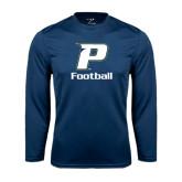 Performance Navy Longsleeve Shirt-Football