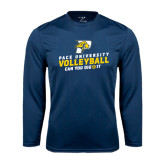 Performance Navy Longsleeve Shirt-Can You Dig It Volleyball
