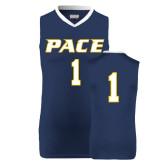 Replica Navy Adult Basketball Jersey-#1