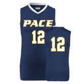 Replica Navy Adult Basketball Jersey-#12