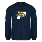 V Neck Navy Raglan Windshirt-P w/T-Bone