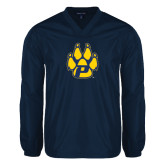 V Neck Navy Raglan Windshirt-Paw