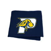 Navy Sweatshirt Blanket-P w/T-Bone