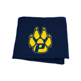 Navy Sweatshirt Blanket-Paw